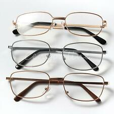 Fashion Lightweight Metal Frame Resin Lens Optic Reading Glasses Unisex 3 Colors
