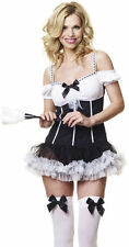 FRENCH BOUDOIR MAIDS MAID FANCY DRESS OUTFIT COSTUME, SIZES: S-XL