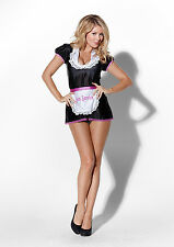 ROOM SERVICE FRENCH MAID SEXY FANCY DRESS COSTUME OUTFIT, SIZES: S-XL