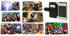 Marvel DC Superhero Leather Wallet Phone case Iphone 4 4s,5 5s,5c,Samsung S3 S4
