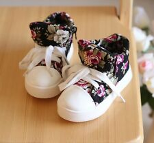 New Korea Style Kids Toddlers Girls Floral Canvas Sneakers Walking Sports Shoes