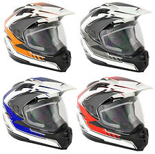 NEW STEALTH ADVENTURE DUAL SPORT TOURING ROAD/OFF ROAD MOTORCYCLE HELMETS