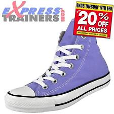 Converse Womens Girls Chuck Taylor All Star Hi Top Trainers Lilac AUTHENTIC