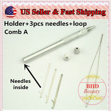 Aluminum Ventilating Holder and Needles Kit Making Lace Wig--Different Combs