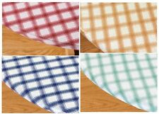 Plaid Elasticized Vinyl Table Cover, Protects Table From Scuffs And Scratches