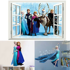 Frozen Removable Wall Sticker Girls bedroom Window Decal Snow Queen Elsa Anna