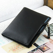 Men's Faux Leather ID credit Card holder Clutch Bifold Coin Purse Wallet Pockets