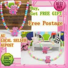 Peppa Pig Necklace and Bracelets children girls Necklace jewellery  FREE GIFT