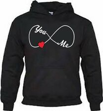 "Sick Hoodies ""Infinity Sign you Love me Forever"" Black Hoodie, Couples"