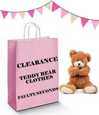 Teddy Bears Clothes FACTORY CLEARANCE & SECONDS FAULTY SALE Fits Build a Bear