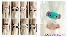 Pair of Cute Cartoon (Bunny/Cat/Panda/Elephant) Shaped Nursery Curtain Tie Backs
