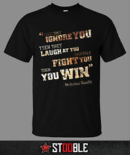 Mahatma Gandhi Quote T-Shirt - New - Direct from Manufacturer