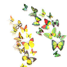 3D Butterfly Sticker Decal Wall Stickers Art Design Home Decor Room Decorations