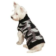 Dog Knitted Jumper Black Camo XS-XL -Sweater Chihuahua Coat Jacket Clothes Pet