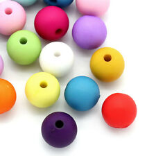 "Wholesale Lots Acrylic Spacer Beads Round Mixed 10mm(3/8"")Dia."