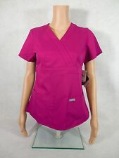 Grey's Anatomy 3-pocket Mock Scrub Top. Style 4153. Radiance *NEW* Free Shipping