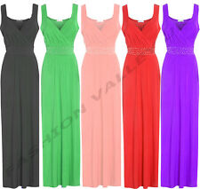 LONG DIAMENTE BRIDESMAID DRESS FORMAL PROM BALL GOWN PARTY MAXI DRESS PLUS SIZE