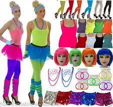 Just 4 Fun Set Accessori Costume Gonna Tutù Stile Anni'80 Fluorescenti