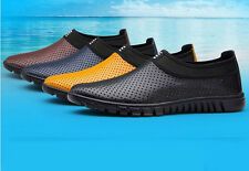 US 7-12 mens casual dress formal genuine leathers lip on loafers sandal shoes