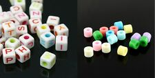 *CLEARANCE* 100 Alphabet and Column Beads Mixed Colour *CLEARANCE*