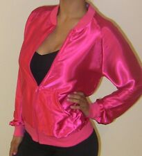 AMERiCAN APPAREL C400 GREASE SATiN CHARMEUSE NiGHT JACKET WOMENS MEN 70S 60S VTG