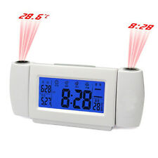 Dual Digital LED Laser Wall Projector Projection Alarm Time Clock Temperature