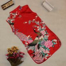 Chinese Qipao Kid Child Girl Baby Peacock Cheongsam Dress / Qipao 1-8Y Skirts