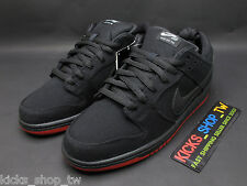 DS NIKE DUNK LOW PRO PREMIUM SB LEVI'S BLACK DENIM RED 573901-001 BRED
