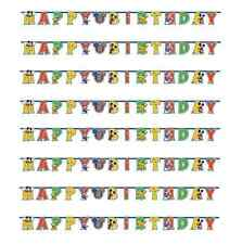 Mickey Mouse Playful Party Add Age Happy Birthday Banner 1 - 5pk