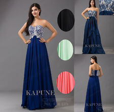 New Chiffon Empire Long Women Formal Bridesmaid Evening Dresses prom Ballgowns