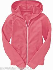 NWT OLD NAVY Girl's Waffle Knit Hoodie Jacket Neon Pink M (8) NEW