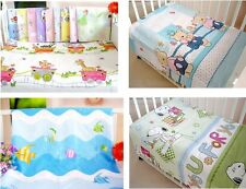 Health Cotton Cute Printed pattern  Crib  Baby Bed Bedding Sheets 140*90