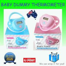 Dummy / Pacifier Thermometer Baby & Infant with Digital  LCD Screen Blue or Pink