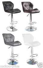 Modern Uranus Padded Swivel Leather Breakfast Kitchen Bar Stools Pub Barstools
