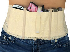 Ladies Womens Concealed Carry Lace Waistband Gun Holster-Hidden Heat Lace PLUS P