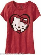 NWT OLD NAVY Women's HELLO KITTY Crew Neck Tee Top Red XS NEW