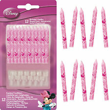 Minnie Mouse Fashion Party Cake Candles 12 - 48pk