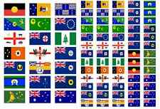 Australia Region and City Flag Stickers rectangular 21 or 65 per sheet