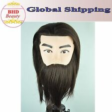 """8"""" Male 50% Synthetic Hair Cosmetology Training Practice Mannequin Manikin Head"""