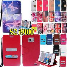 New LEATHER FLIP STAND CAMERA HOLE CASE COVER POUCH FOR Samsung Galaxy s2 i9100