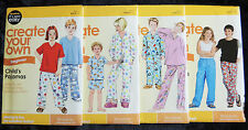 Simplicity It's Sew Easy Sewing Patterns Child Girls Boys Tweens Pajamas PJs New