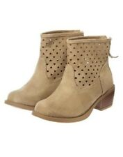 GYMBOREE STRIPES AND ANCHOR Girls TAN FAUX SUEDE BOOTS 9 10 11 12 13 1 2 NEW