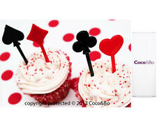 Coco&Bo Queen of Hearts Cupcake Toppers Alice in Wonderland Mad Hatter Tea Party