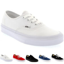 Womens Vans Authentic Canvas Trainers Casual Lace Up Plimsolls Shoe UK 2.5-9
