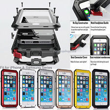 Waterproof Shockproof Metal Gorilla Glass Cover Case for iPhone 5s 6 & 6 Plus