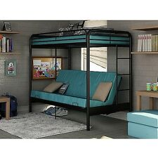 Dorel Twin Over Futon Bunk Bed frame w ladder metal kids dorm mattress Loft NEW