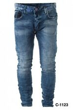 Neu CIPO & BAXX Jeans C-1123 Hose Used-Optik Look Slim Fit Baumwolle Herren Top