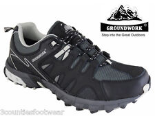 MENS WALKING SHOES - WATERPROOF AND BREATHABLE LEATHER ALL SIZES