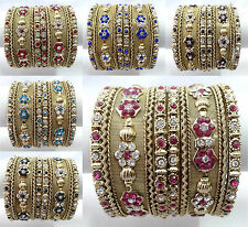 Indian Bollywood Ethnic Wedding Costume bangles bracelet Fashion Jewelry 1506