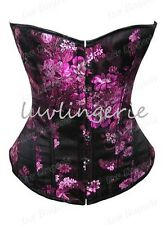 #602 Moulin Rouge Floral Brocade Burlesque Corset Basque